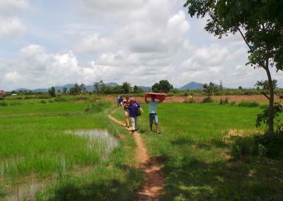 Het is heet in de rijstvelden