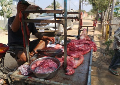 Een varken gekocht en na vetmesten geslacht om te verkopen