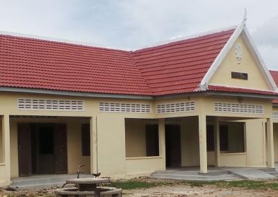 Nieuw gebouwde school door Spie-en