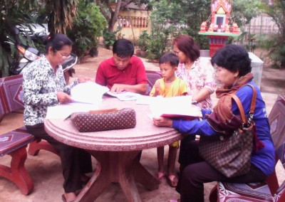 Bezoek bij een aidspatiënt in Tram Kak