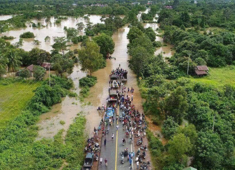 Wateroverlast in Cambodja