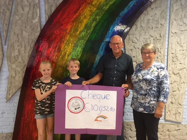 """basisschool """"de Regenboog"""" in Amersfoortheeft een actiegehouden voor stichting de Brug"""